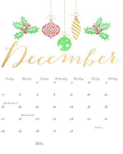 November 2015 Calendar Festive Printable | Calendar Template 2016