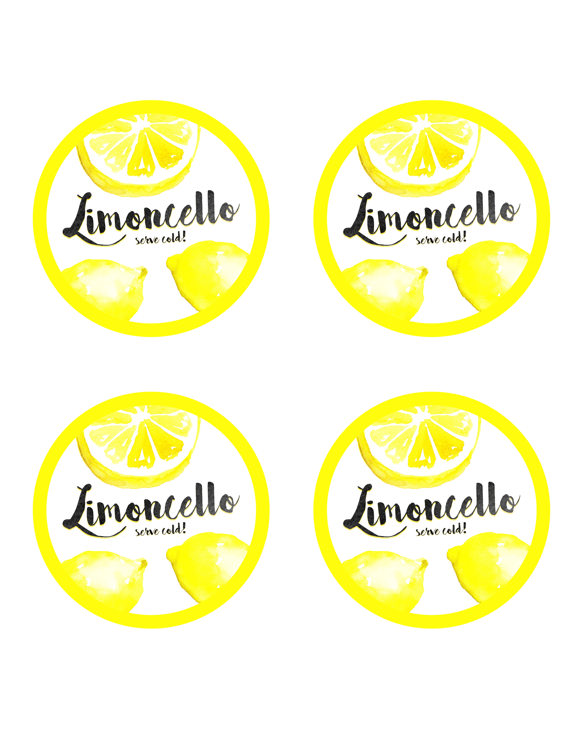 homemade limoncello gift in a jar with free printable label the