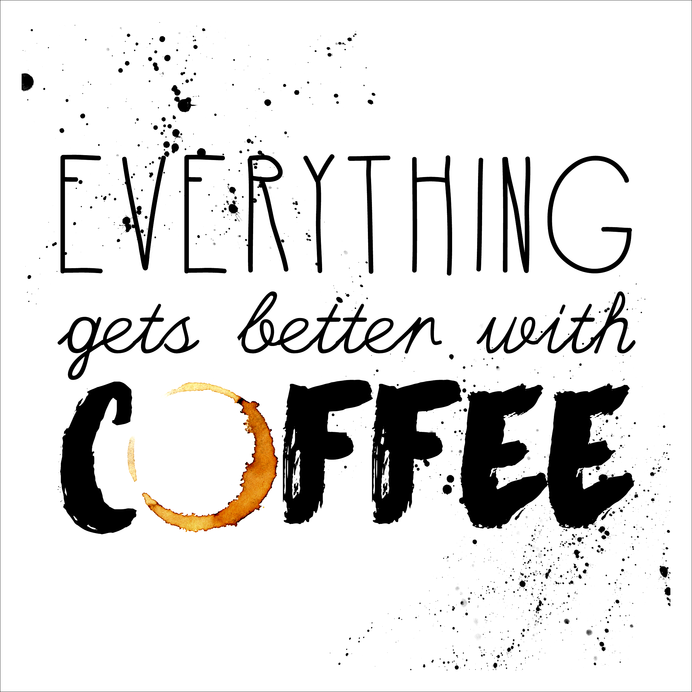 Free Printable Coffee Quotes: Free Printable Art: The Coffee Collection