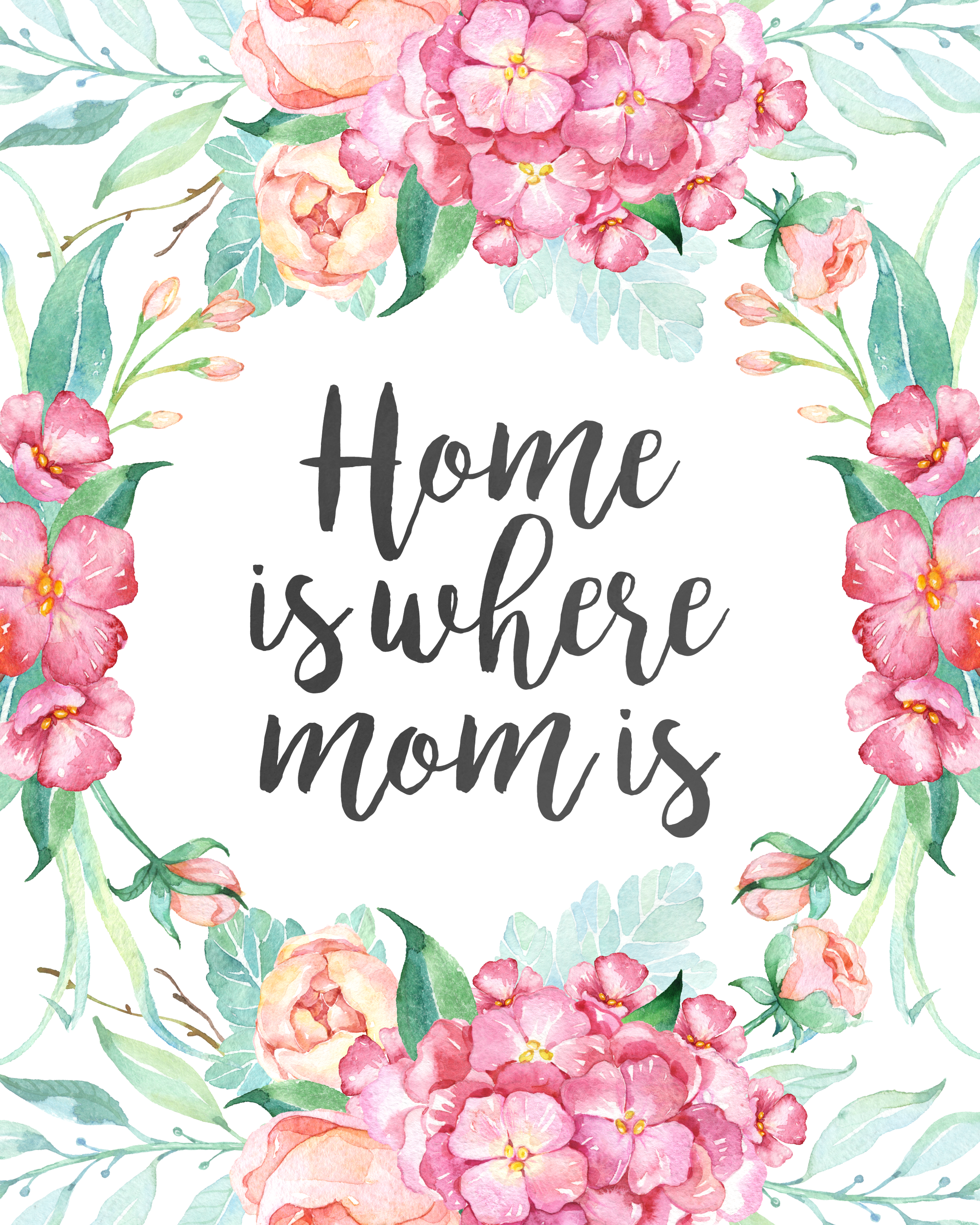 Free printable mothers day prints and greeting cards the home is where mom is greeting card kristyandbryce Choice Image