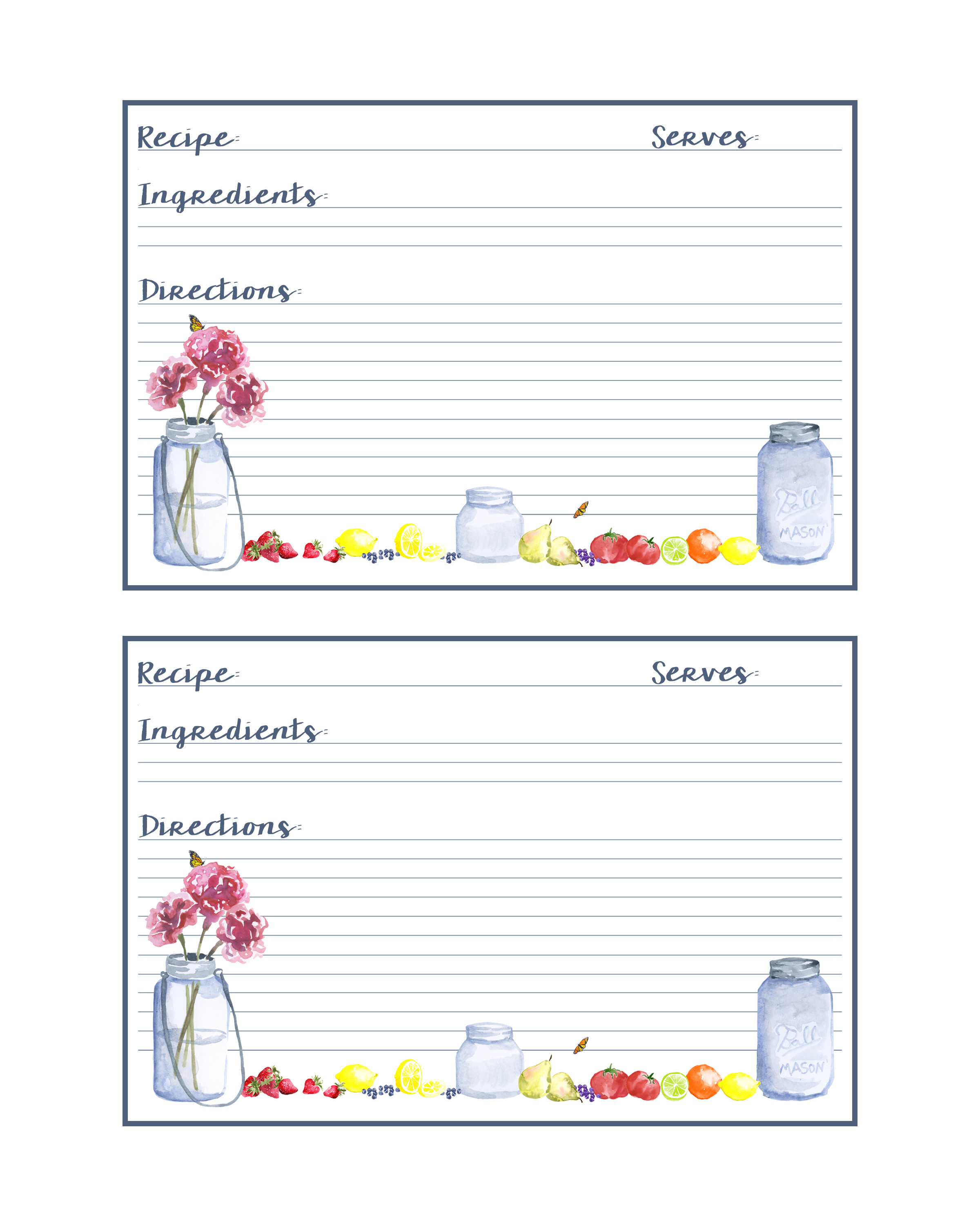 So Download Your Free Printable Mason Jar Recipe Cards