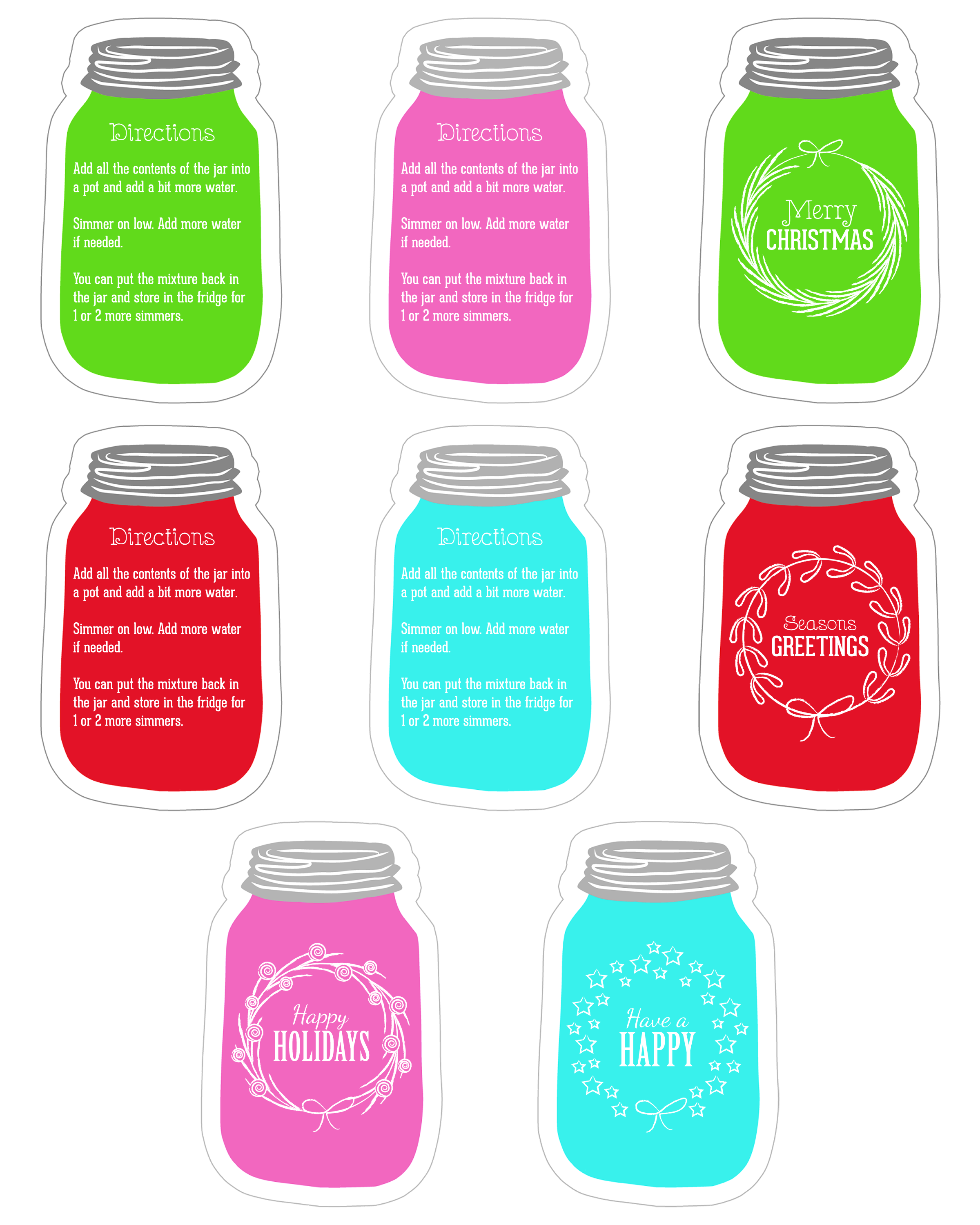Click here for the Mason Jar Tag Printables