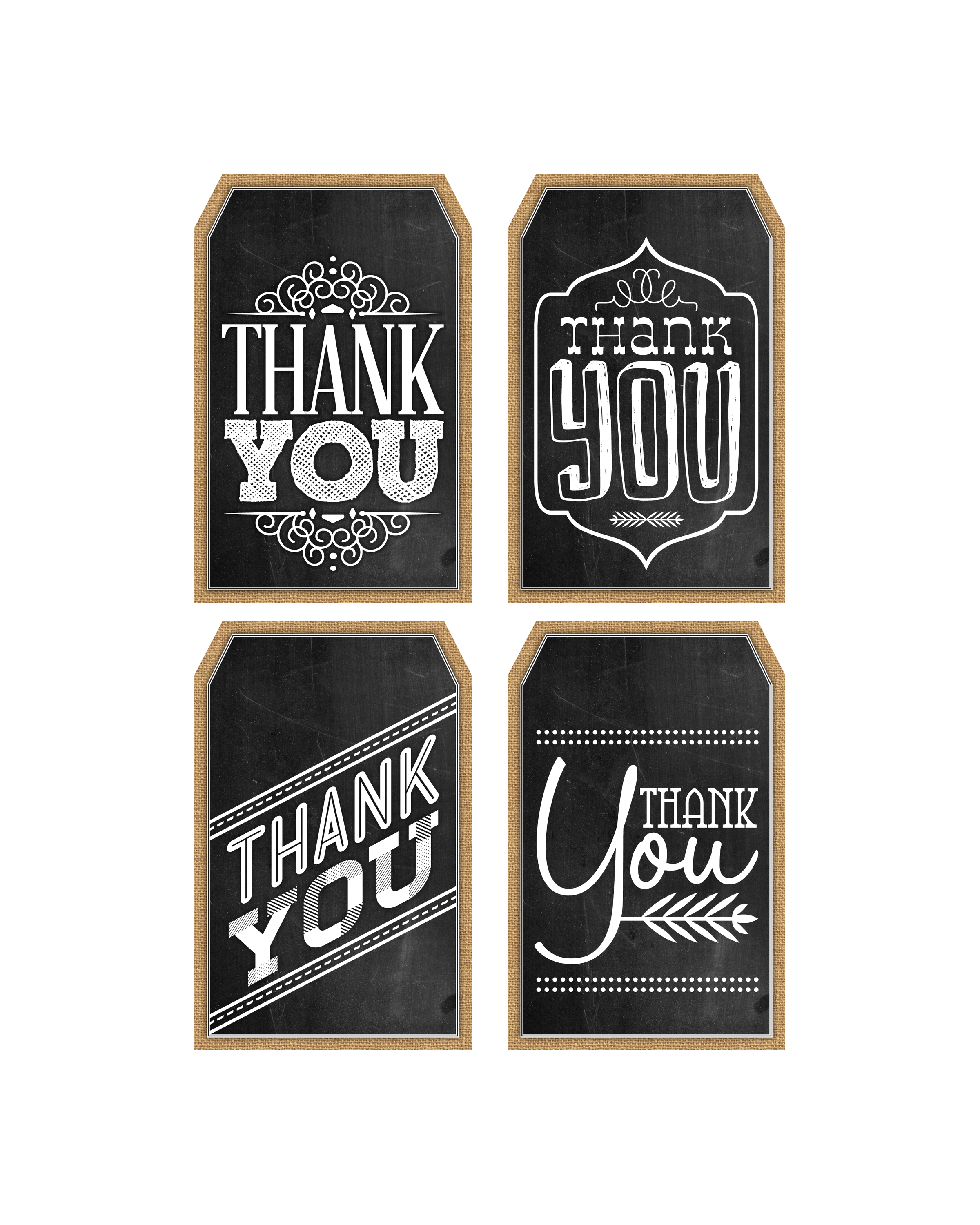 It is a photo of Exceptional Thank You Tags Printable