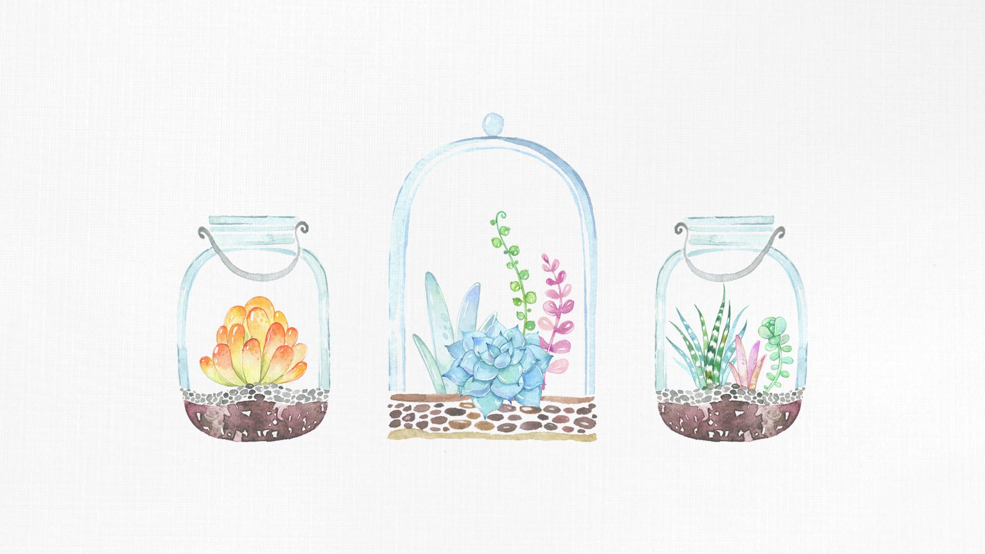 Love Jar Wallpaper : Free Desktop Wallpaper /// Mason Jar Succulents - The ...