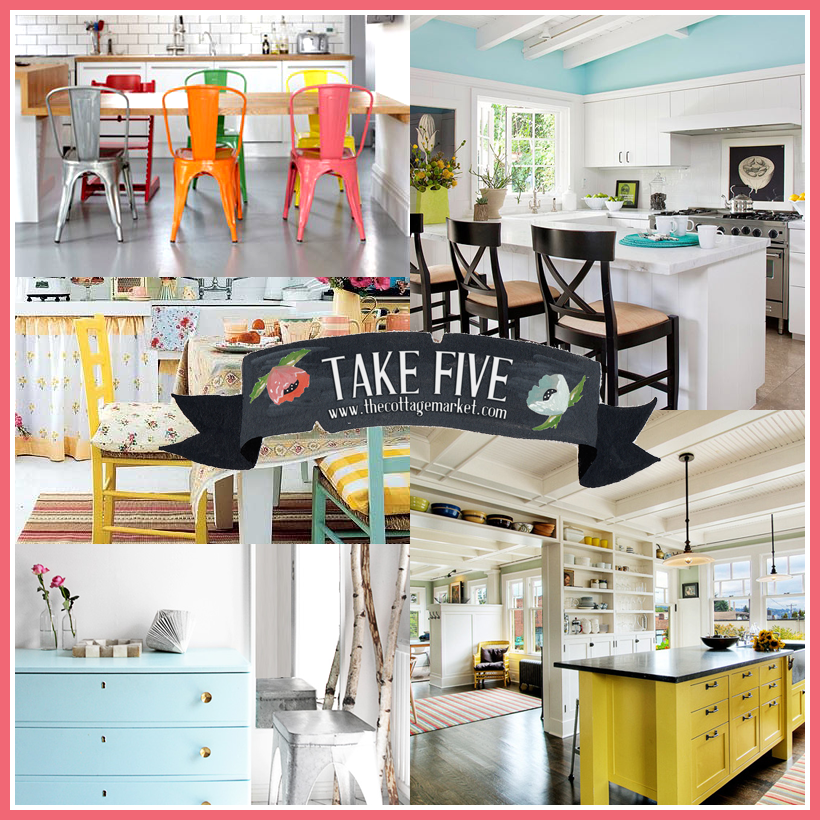 Take 5: All about a pops of color in your white kitchen - The ...