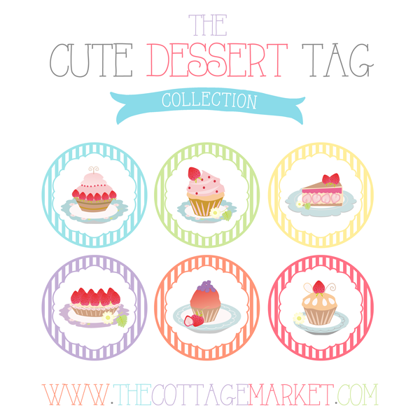 FREE Cute Dessert Gift Tag Collection Cupcakes, Cakes and Tarts - The ...