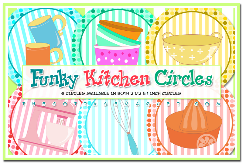 FREE Funky Kitchen Circle Printables & Some Kitchen Fun - The