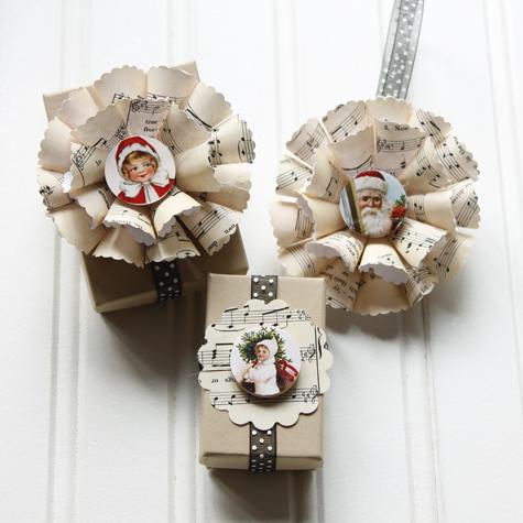 Sheet Music Christmas Ornament DIY - The Cottage Market