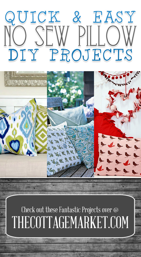 Quick Amp Easy No Sew Pillow Diy Projects The Cottage Market
