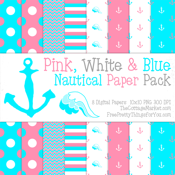 Free Nautical Digital Scrapbooking Paper Part 2 Free Pretty Things