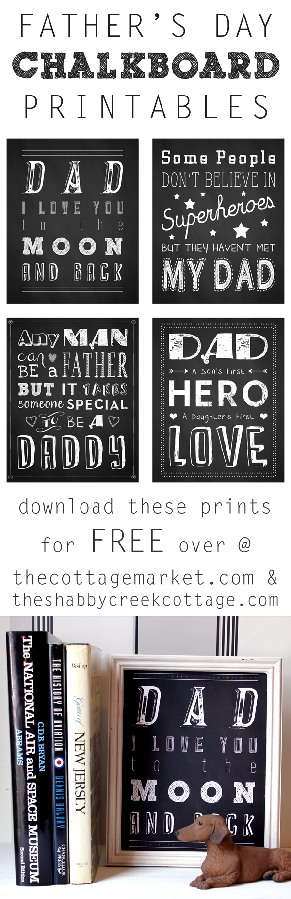 Father's Day Chalkboard Printables from The Shabby Creek Cottage